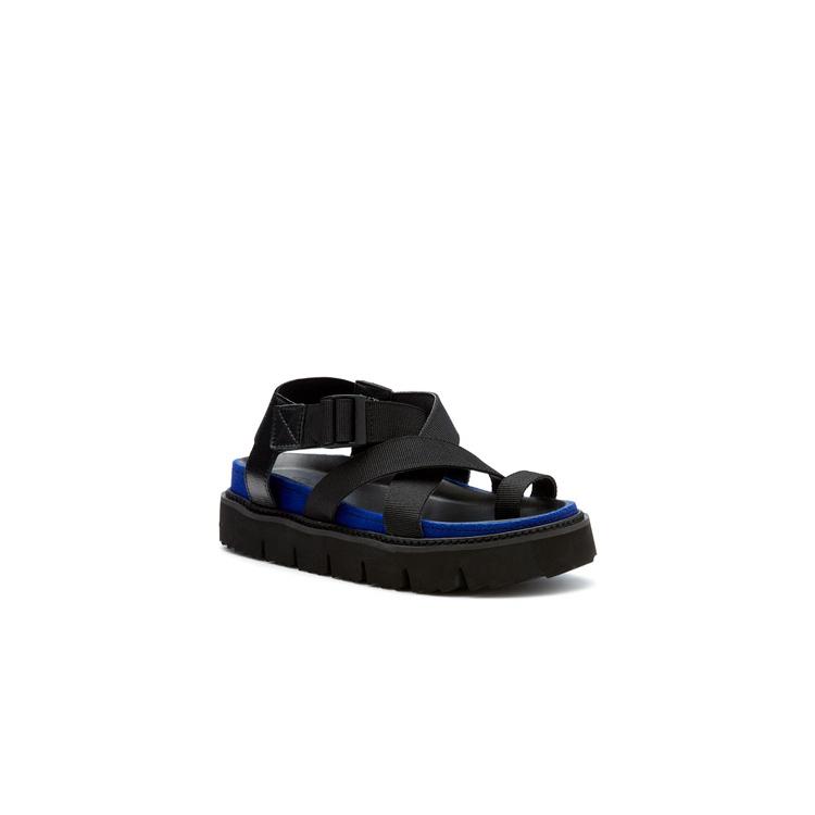 QUAID  SANDALS IN BLACK/BLUE