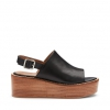 MORA SH  WEDGES IN BLACK
