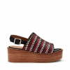MORA SH  WEDGES IN BLACK MULTI