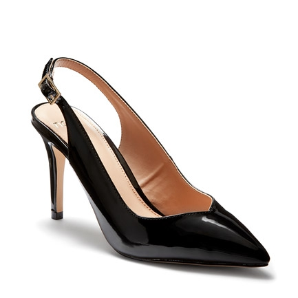 IIDOL  COURT IN BLACK PATENT