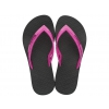 MAIZE KIDS GRENDENE IN BLACK/PINK/BLACK