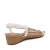 BEXLEY  WEDGES IN WHITE