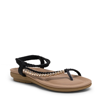 SHA  SANDALS IN BLACK