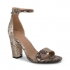 LORA  SANDALS IN NATURAL SNAKE