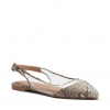CORRIN FLATS IN NATURAL SNAKE