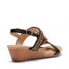 QUILL WEDGES IN BLACK