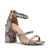ORIANA HEELS IN NATURAL SNAKE