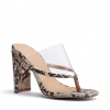 ORIO HEELS IN NATURAL SNAKE