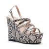 ZOLLI WEDGES IN NATURAL SNAKE