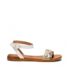 RUBIE  SANDALS IN WHITE SNAKE