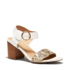ULY HEELS IN WHITE MULTI