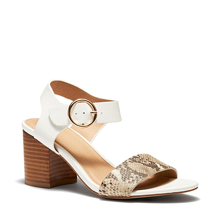 ULY  SANDALS IN WHITE MULTI