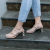 ZOLA  SANDALS IN NATURAL SNAKE