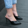 IKARIA PUMPS IN BLACK CROC