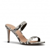 ELEMENTS HEELS IN BLACK/WHITE SNAKE