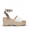 WICKHAM WEDGES IN WHITE SNAKE