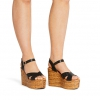 WALKERS WEDGES IN BLACK