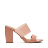 NATTY HEELS IN PEACH