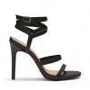MYSTERY HEELS IN BLACK LIZARD