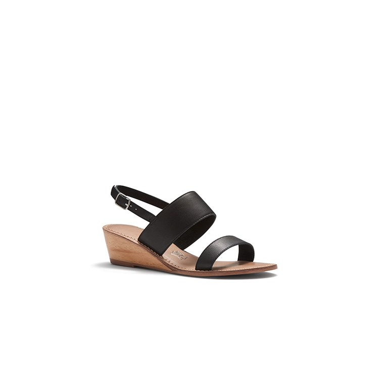 WHIP WEDGES IN BLACK