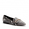 CAUTION FLATS IN BLACK/WHITE SNAKE