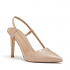 ILLUSIVE PUMPS IN NUDE PATENT