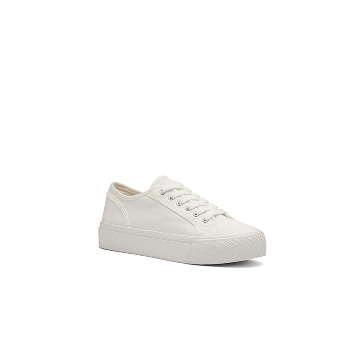 CABAS FLATS IN WHITE
