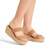 WALLY WEDGES IN ALMOND
