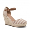 BLITHS WEDGES IN NATURAL STRIPE