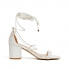 ZATALIE HEELS IN WHITE