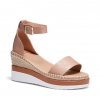 BECKEY WEDGES IN ALMOND
