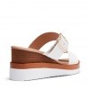 BRIDGETTE WEDGES IN WHITE