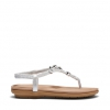 SMARTER SANDALS IN SILVER