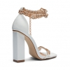 ZONNIE HEELS IN WHITE