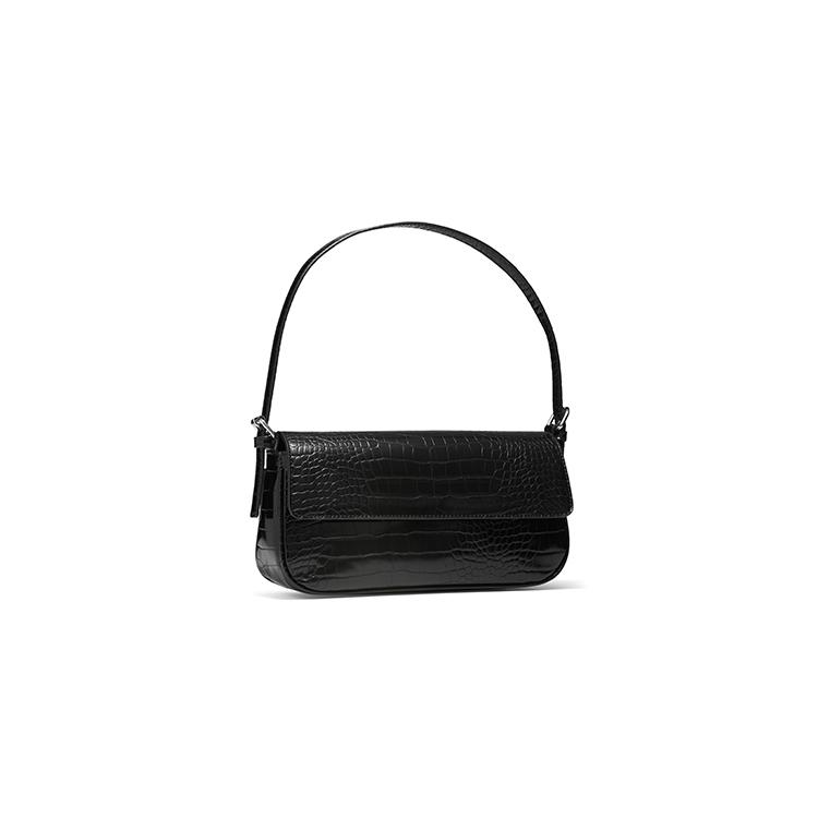 ANNESSA BAG IN BLACK CROC