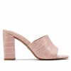 MIRACLE MULES IN PINK CROC