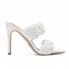 MANEATER HEELS IN WHITE