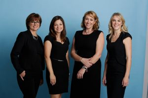 4 ladies standing for the Alecto Medical Recruitment team photo