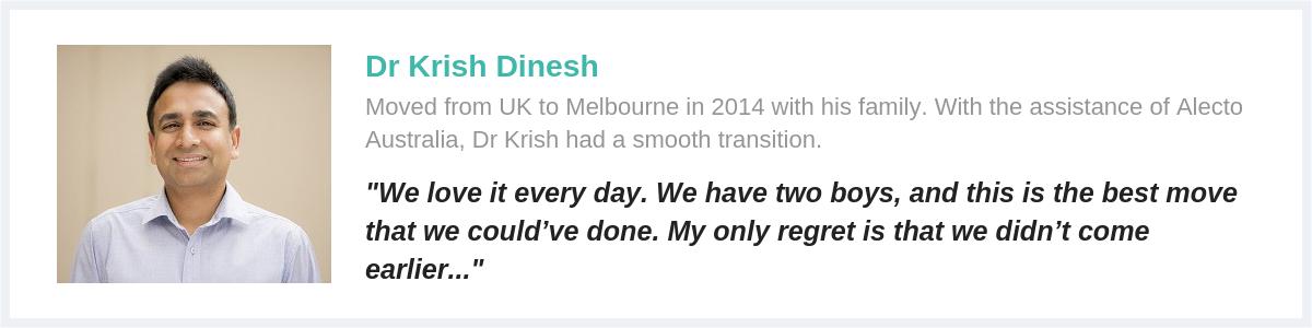 dr krish testimonial