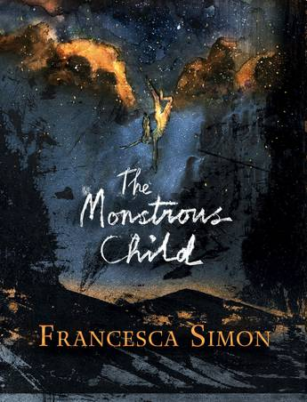The Monstrous Child — a night sky, earth below and a falling figure