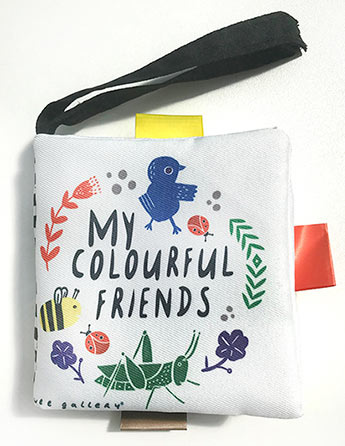 228dcf7e513f Wee Gallery Buggy Books  My Colourful Friends