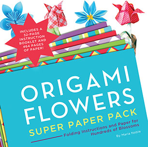 Origami Flowers Super Paper Pack Maria Noble 9781589238985