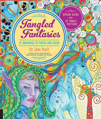 Tangled Fantasies Draw and Color
