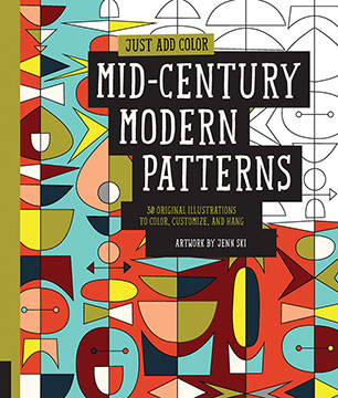 Just Add Color Mid Century Modern Patterns Jenn Ski