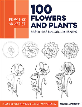 100 Flowers and Plants (Draw Like an Artist)