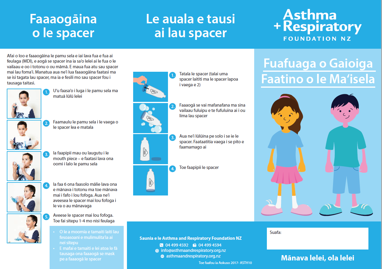 Child Asthma Action Plan (Samoan)