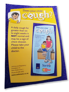 Does your child cough poster
