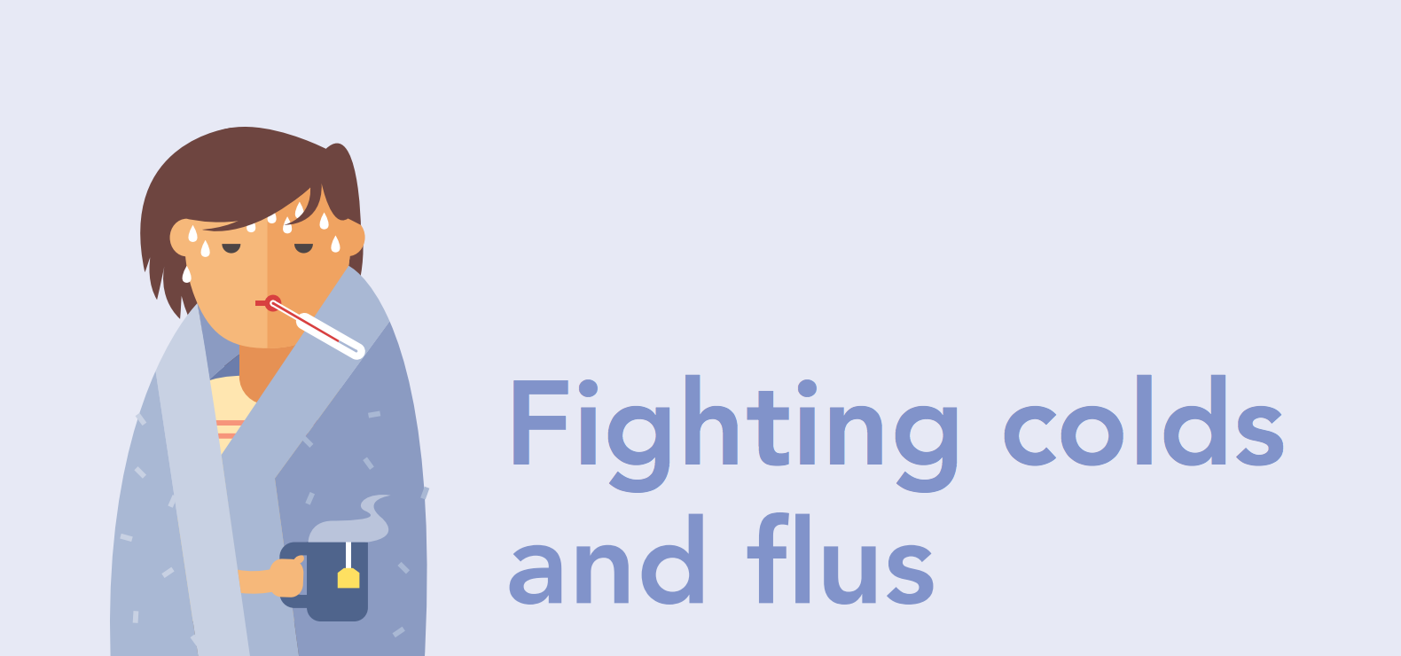 Sick Person Fighting Colds And Flus
