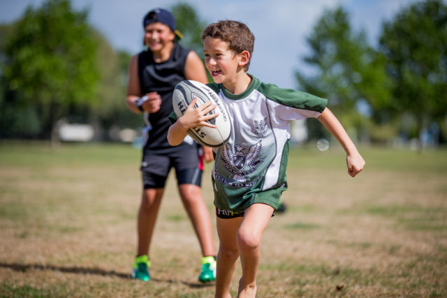 Boy Playing Rugby Asthma And Exercise