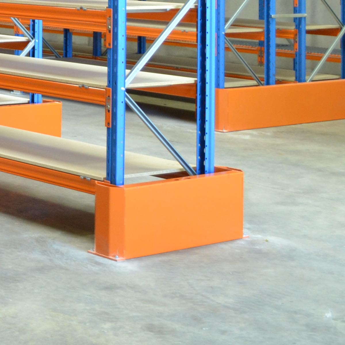 Example of 1040mm End Row Wrap Barriers when in use.